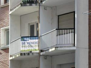 cartel se vende piso